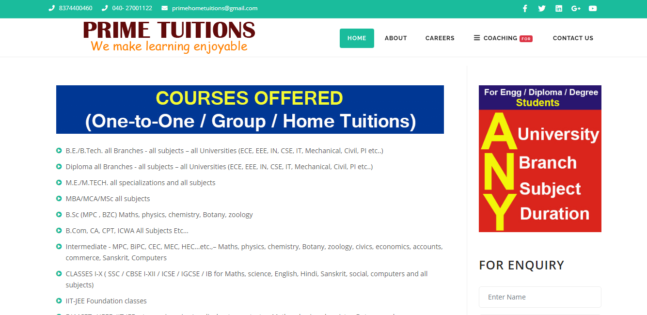 prime tuitions